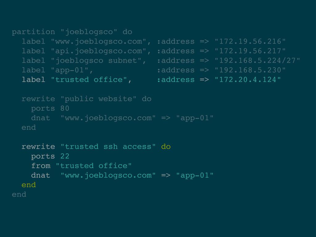 "partition ""joeblogsco"" do label ""www.joeblogsco..."
