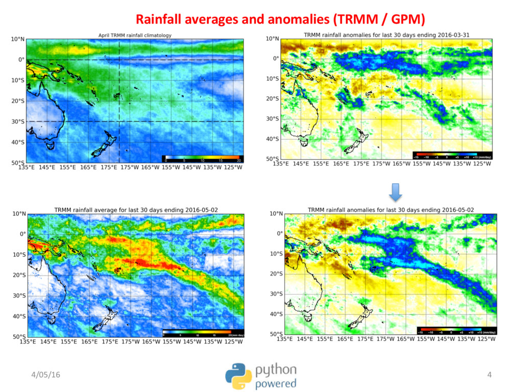 Rainfall averages and anomalies (TRMM / GPM) 4/...
