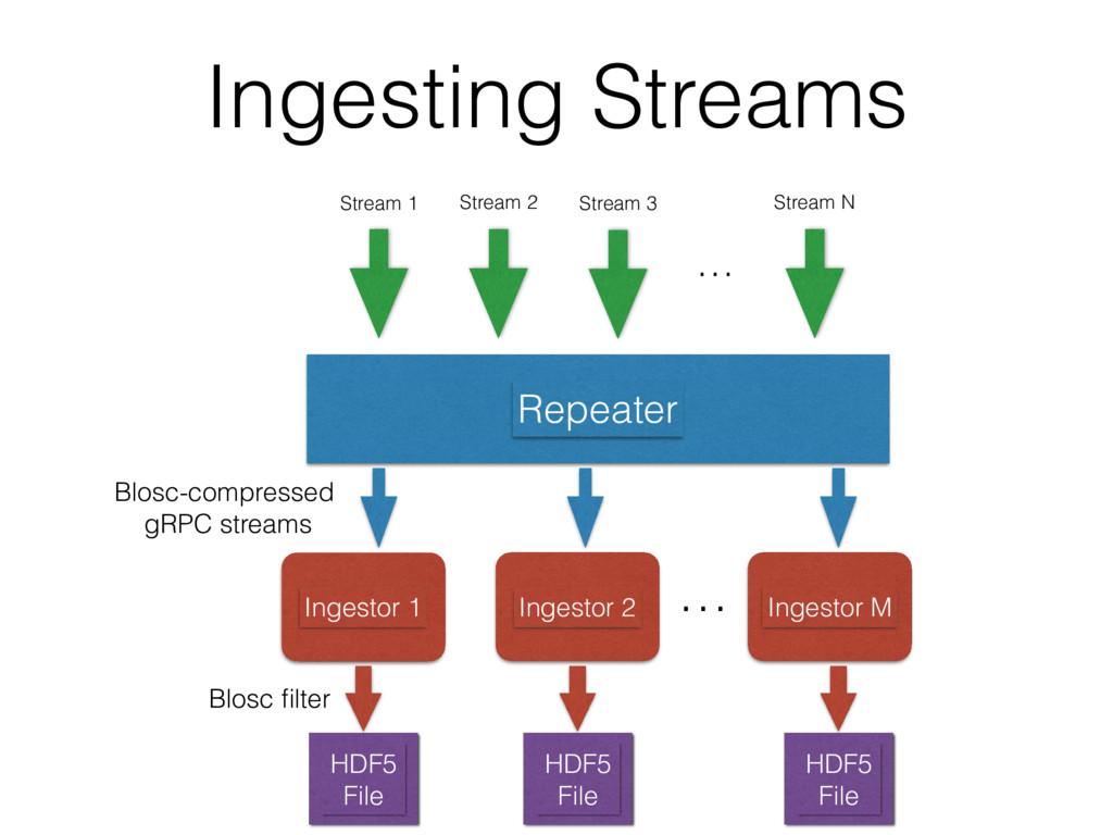 Ingesting Streams Repeater Stream 1 Stream 2 St...