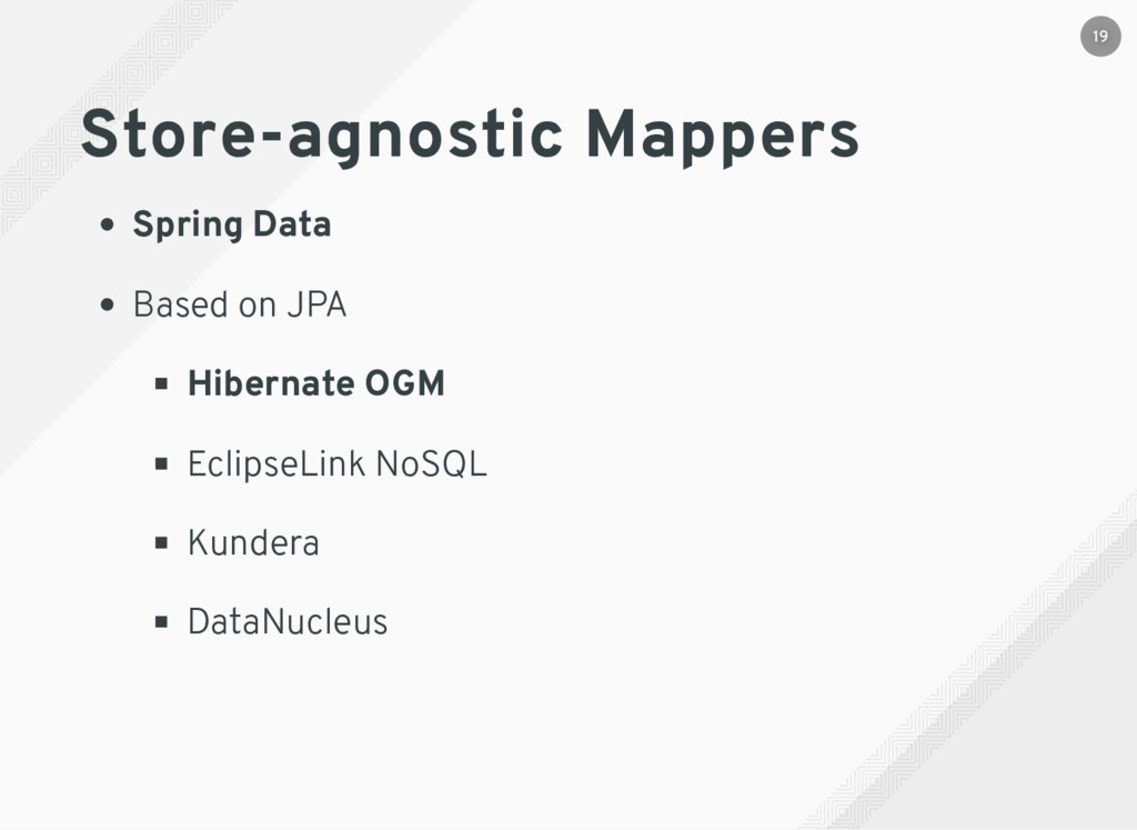 Store-agnostic Mappers Spring Data Based on JPA...