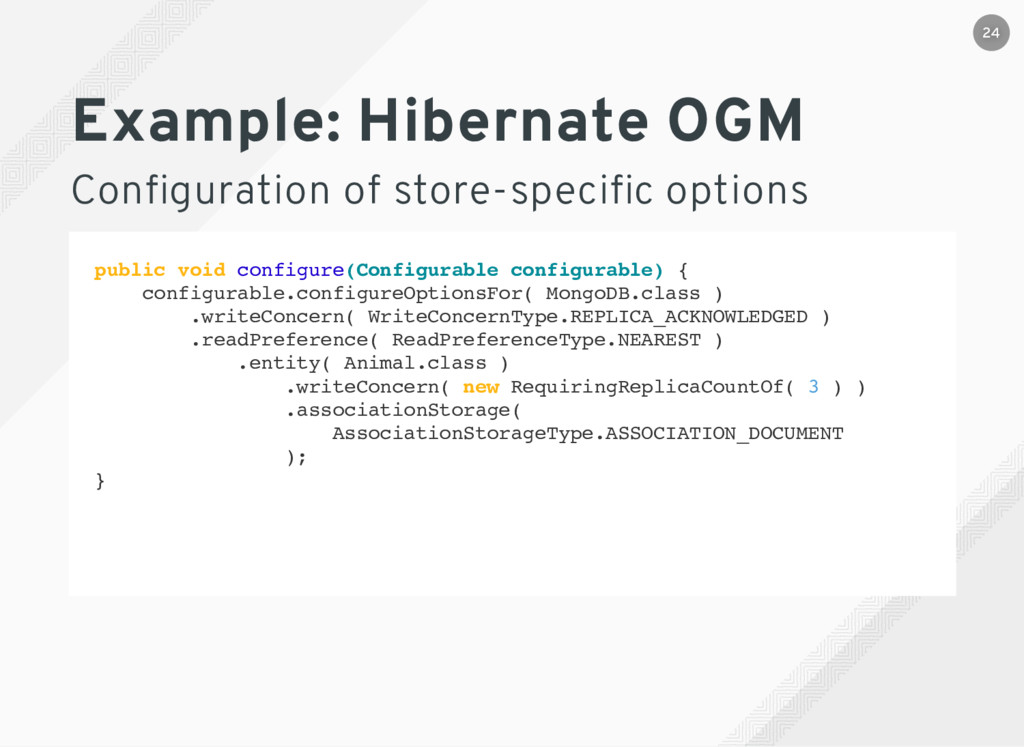 Example: Hibernate OGM Configuration of store-sp...