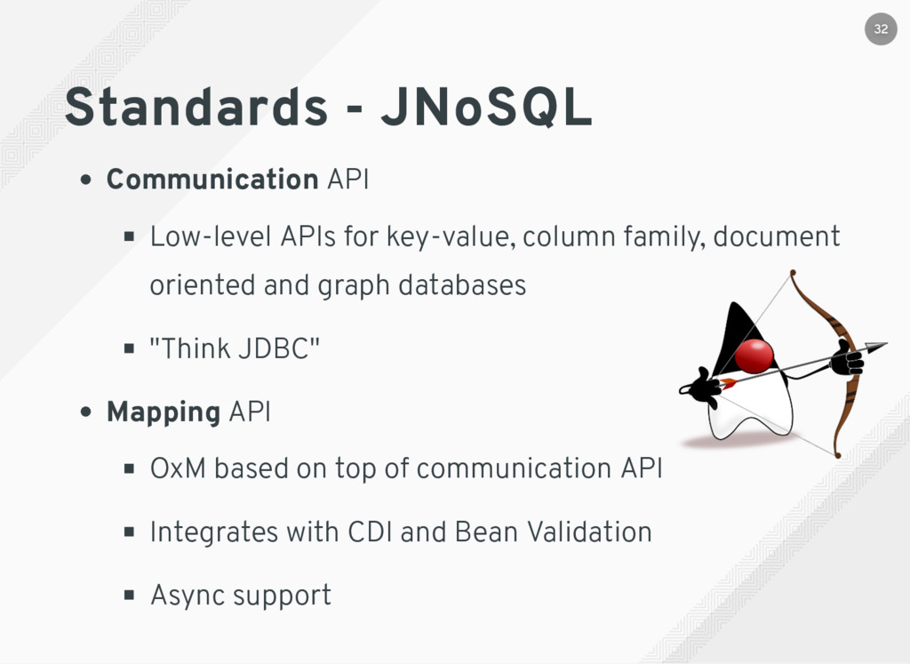 Standards - JNoSQL Communication API Low-level ...