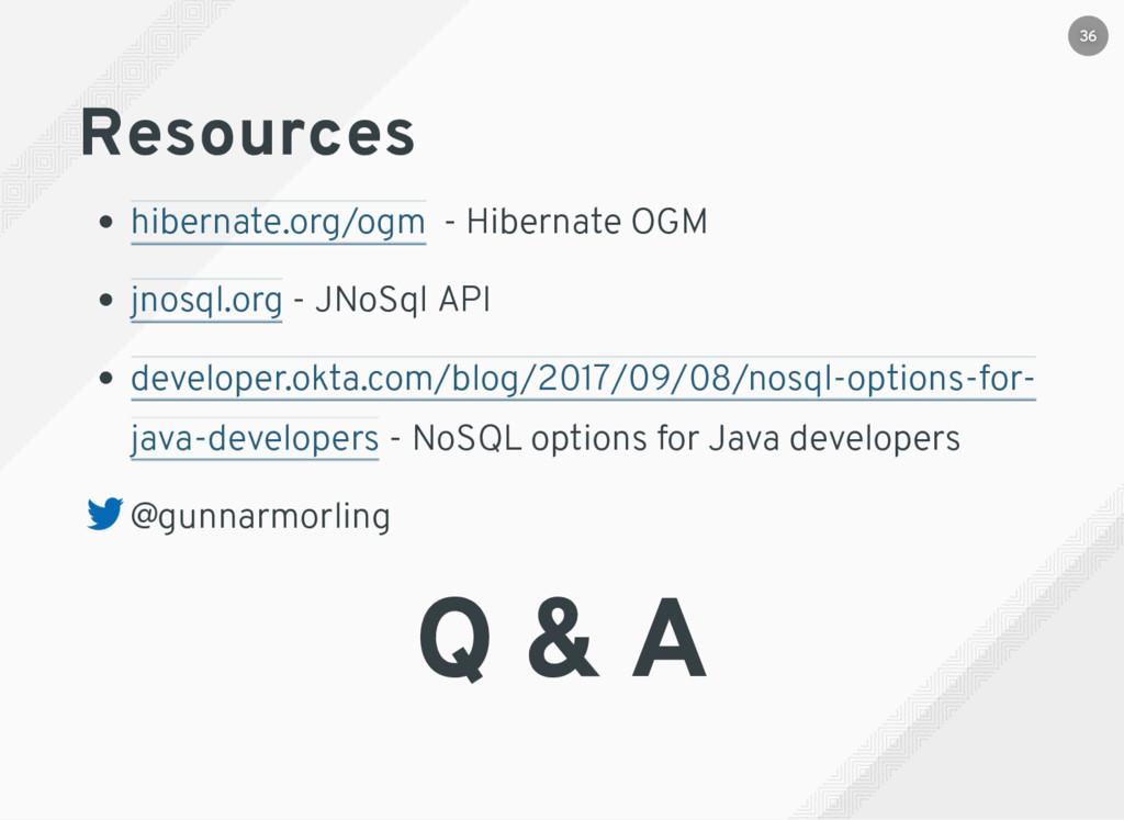 Resources - Hibernate OGM - JNoSql API - NoSQL ...