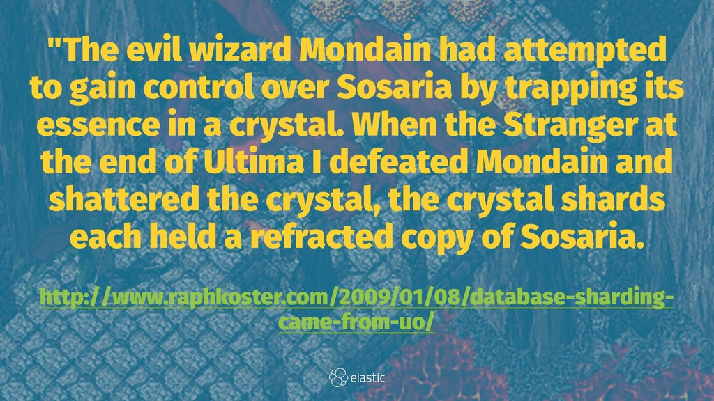 """""""The evil wizard Mondain had attempted to gain ..."""