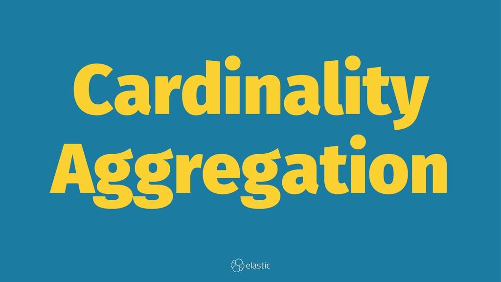Cardinality Aggregation