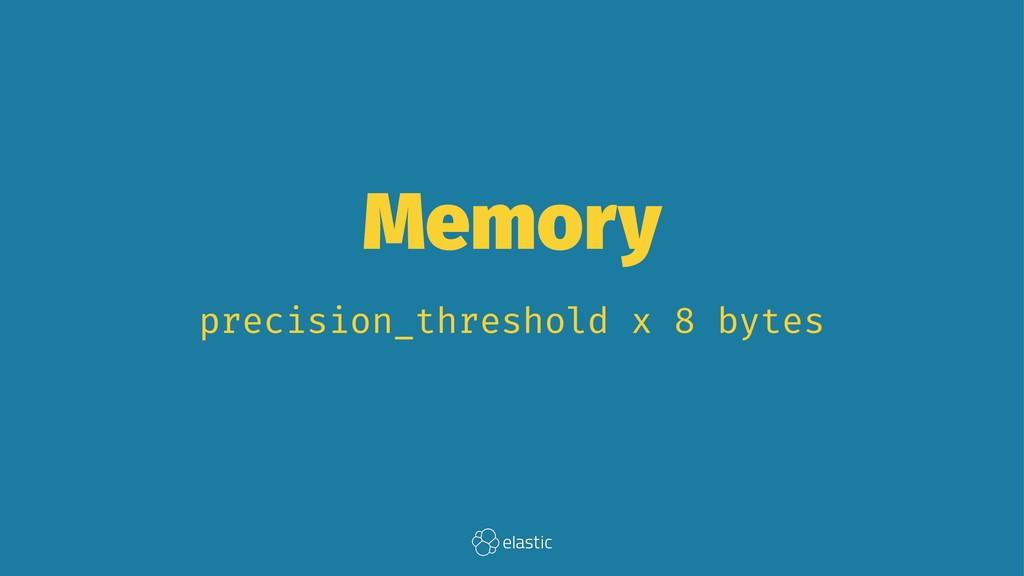 Memory precision_threshold x 8 bytes