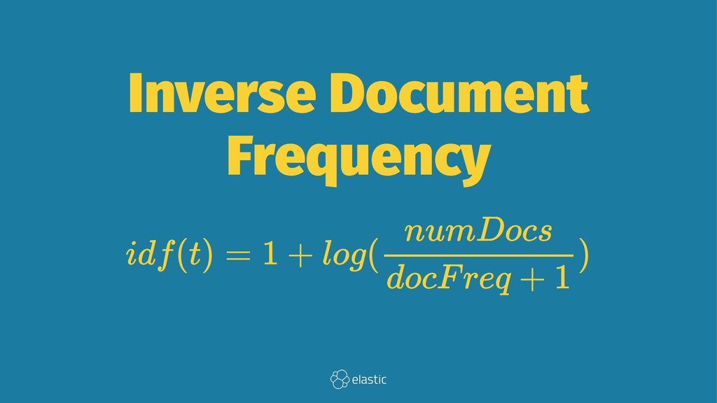 Inverse Document Frequency