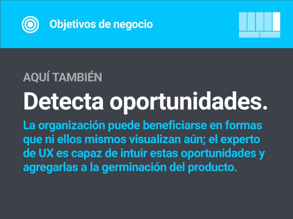 Objetivos de negocio AQUÍ TAMBIÉN Detecta oport...