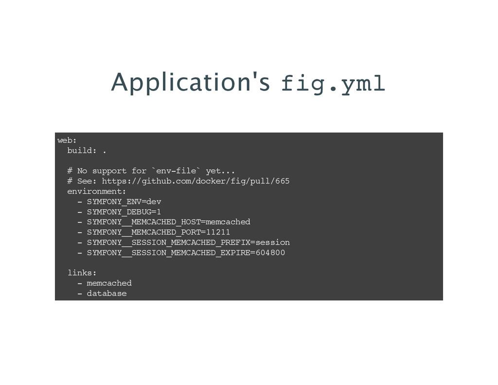 Application's fig.yml web: build: . # No suppor...