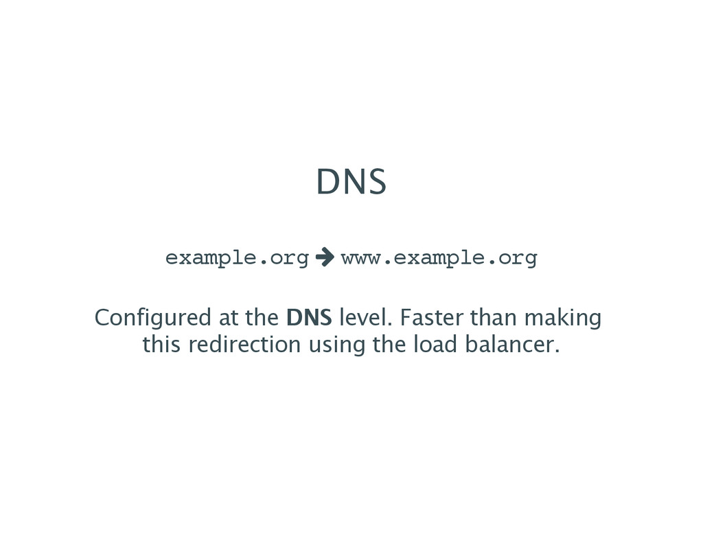 DNS example.org w www.example.org Configured at...