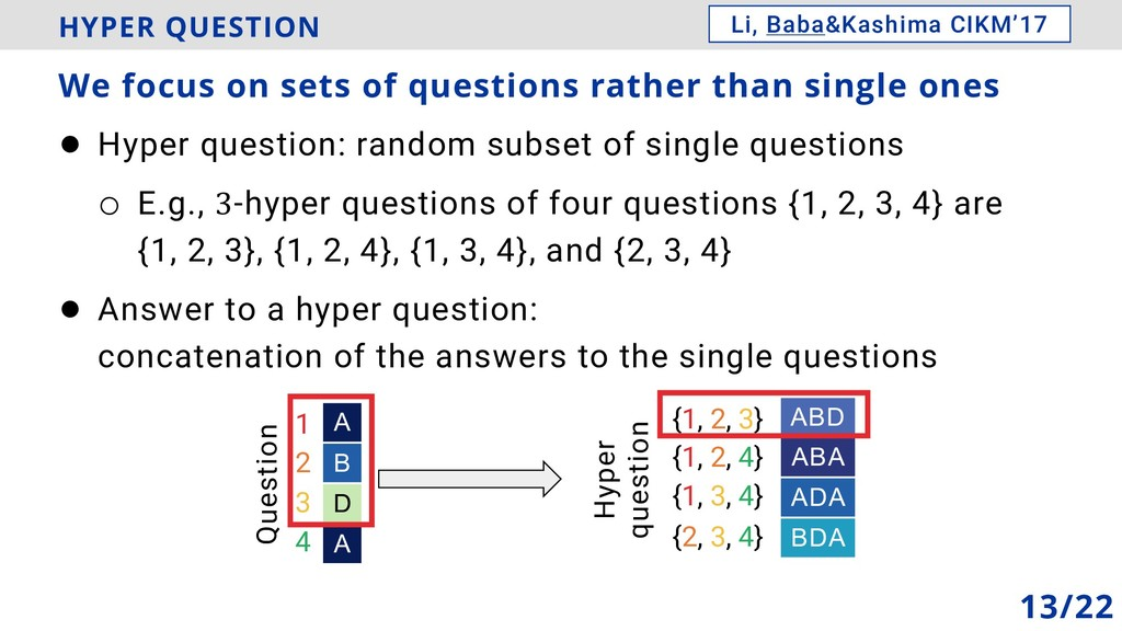 HYPER QUESTION ! Hyper question: random subset ...