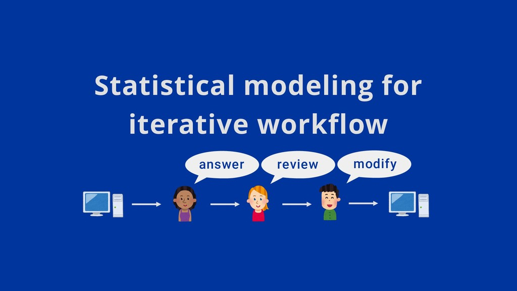 Statistical modeling for iterative workflow ans...
