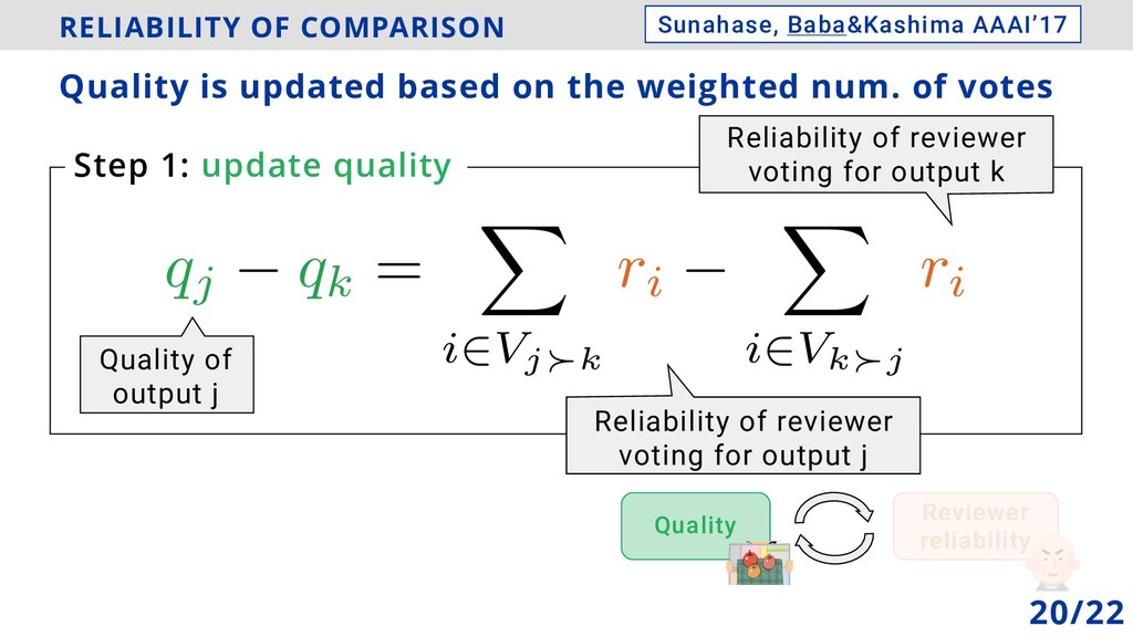 RELIABILITY OF COMPARISON Quality is updated ba...