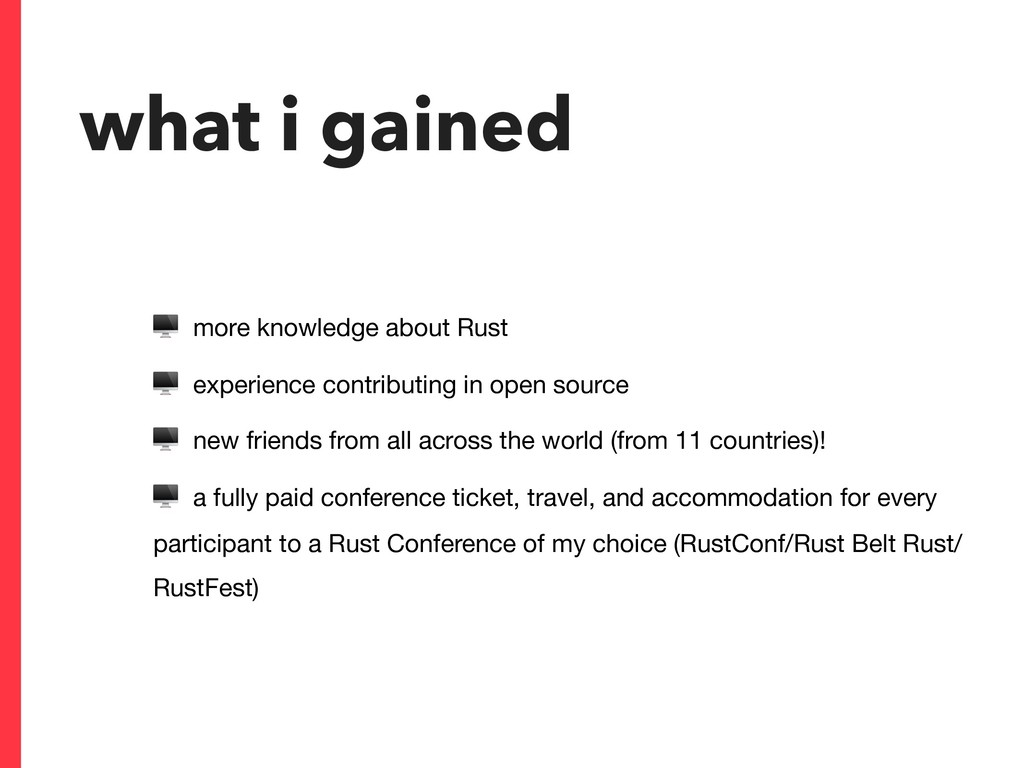 what i gained  more knowledge about Rust  exper...