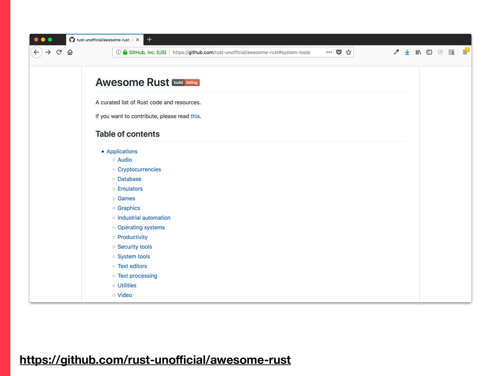 https://github.com/rust-unofficial/awesome-rust