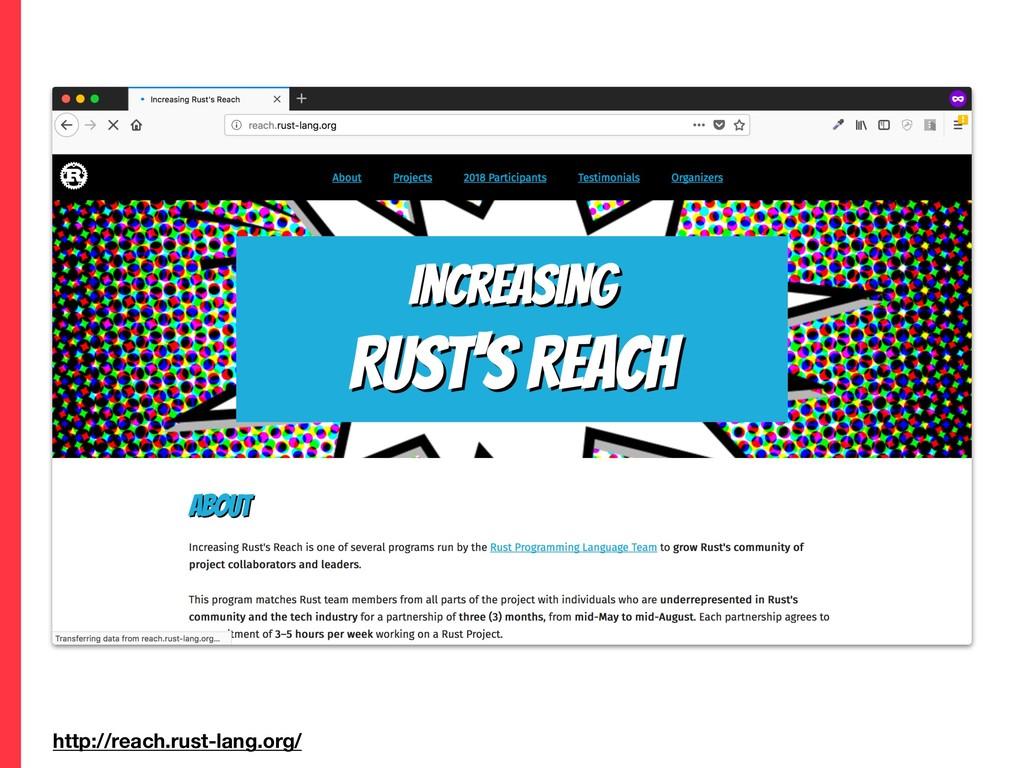 http://reach.rust-lang.org/