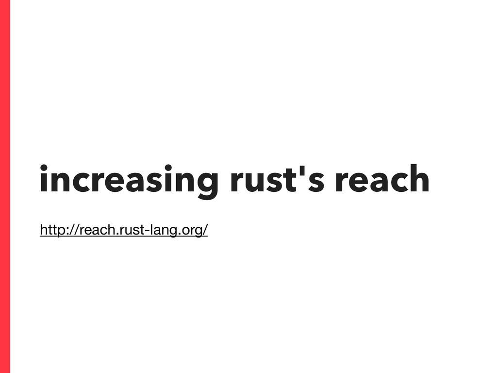 increasing rust's reach http://reach.rust-lang....