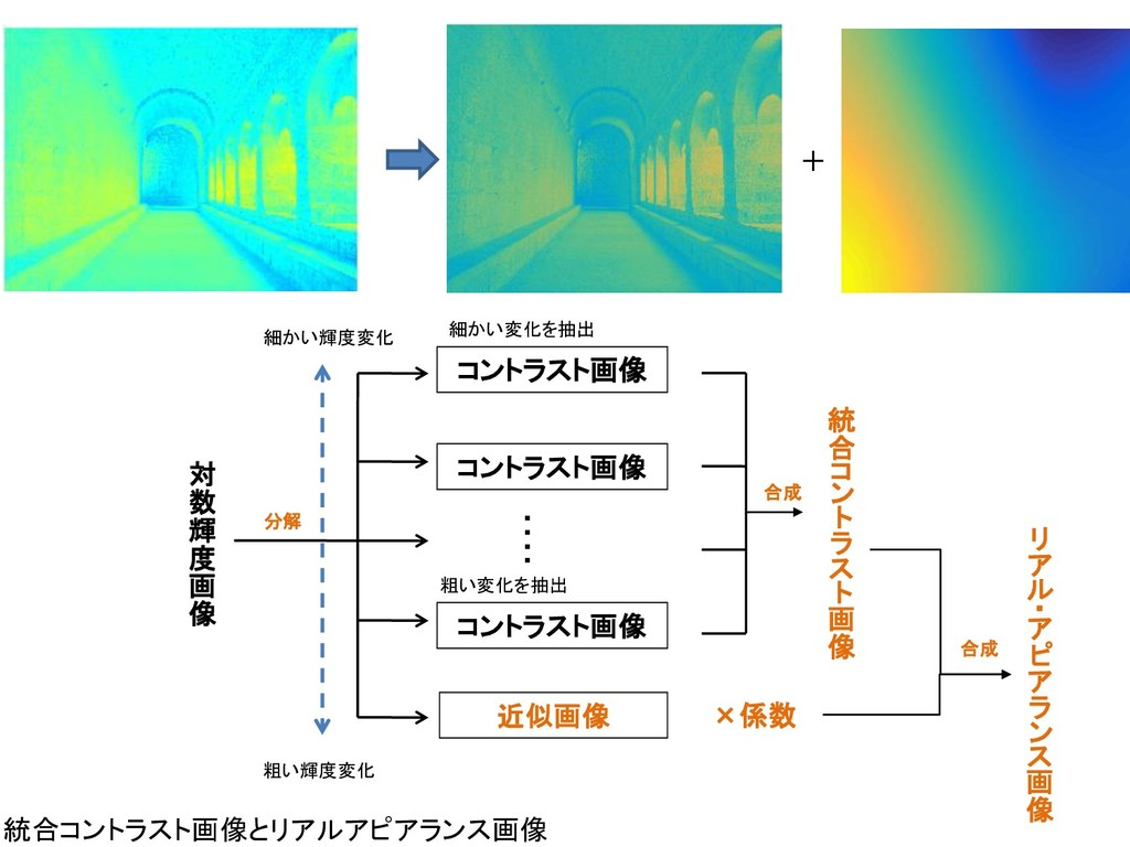 統合コントラスト画像とリアルアピアランス画像 ・ ・ ・ ・ 対 数 輝 度 画 像 統 合 ...