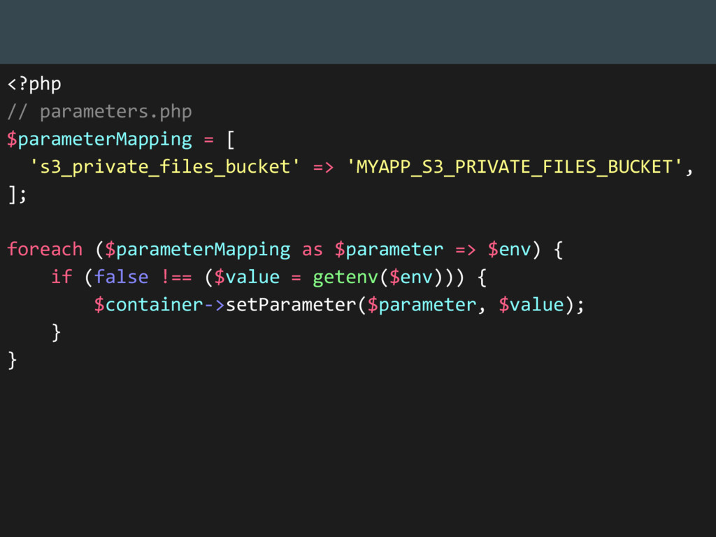 <?php // parameters.php $parameterMapping = [ '...