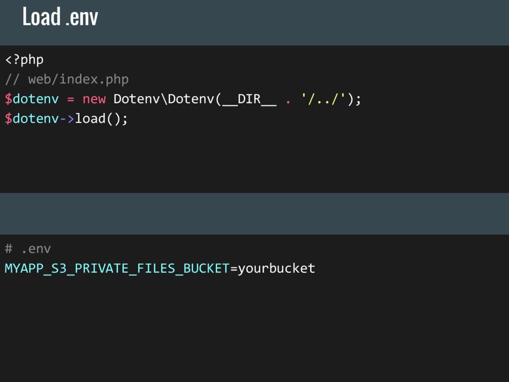 <?php // web/index.php $dotenv = new Dotenv\Dot...