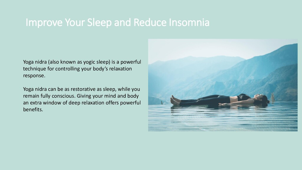 Improve Your Sleep and Reduce Insomnia Yoga nid...