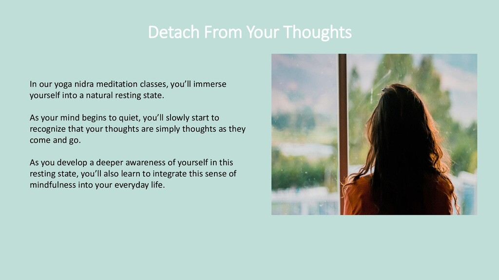 Detach From Your Thoughts In our yoga nidra med...