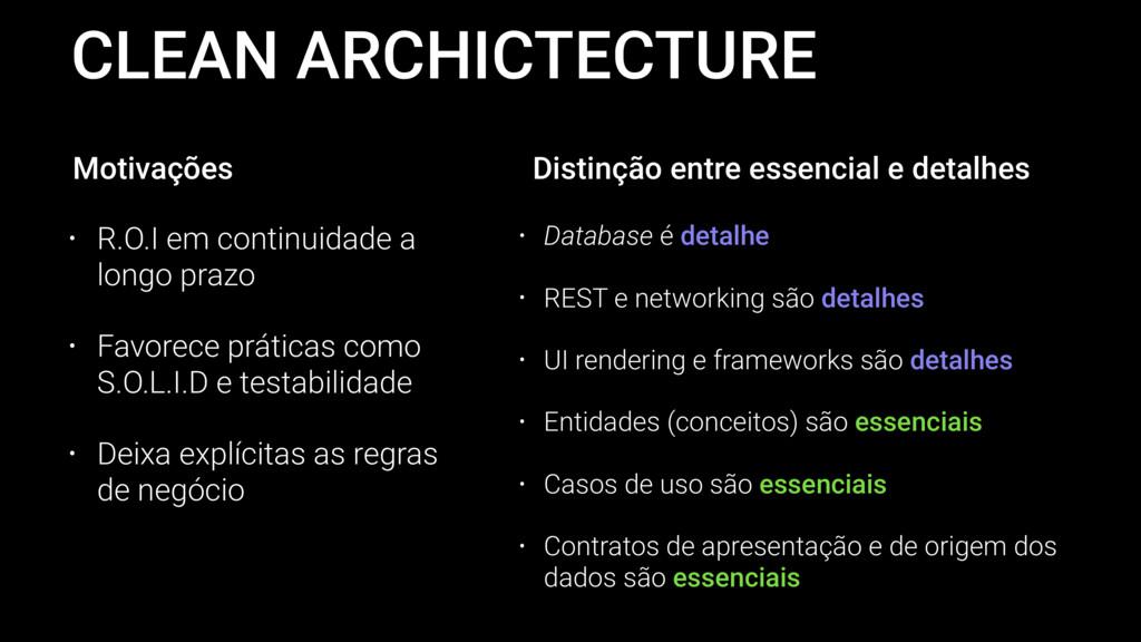 CLEAN ARCHICTECTURE • R.O.I em continuidade a l...