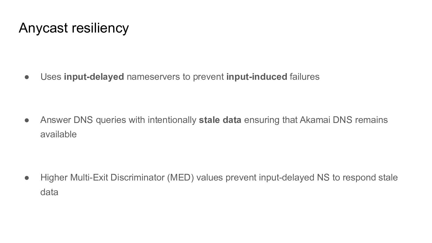 ● Uses input-delayed nameservers to prevent inp...