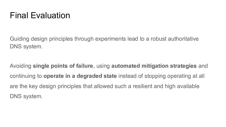 Final Evaluation Guiding design principles thro...