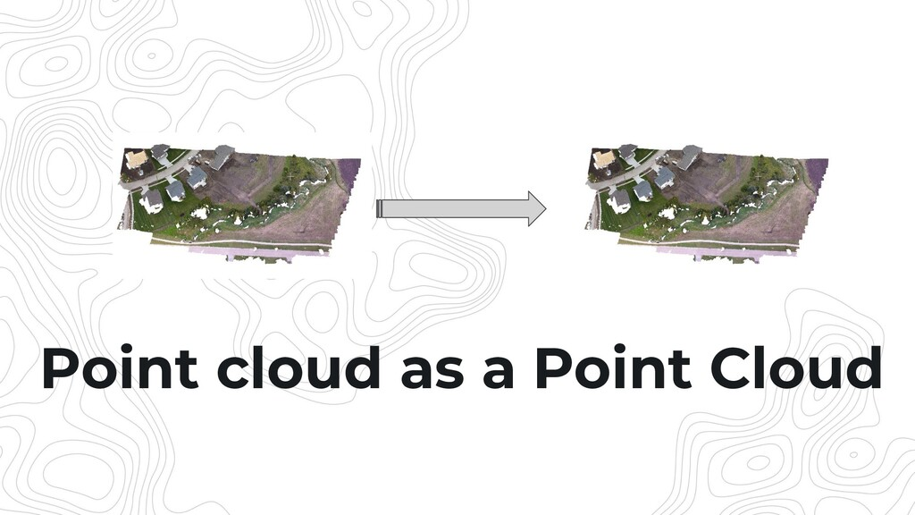 Point cloud as a Point Cloud
