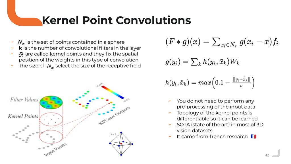 42 Kernel Point Convolutions + is the set of po...