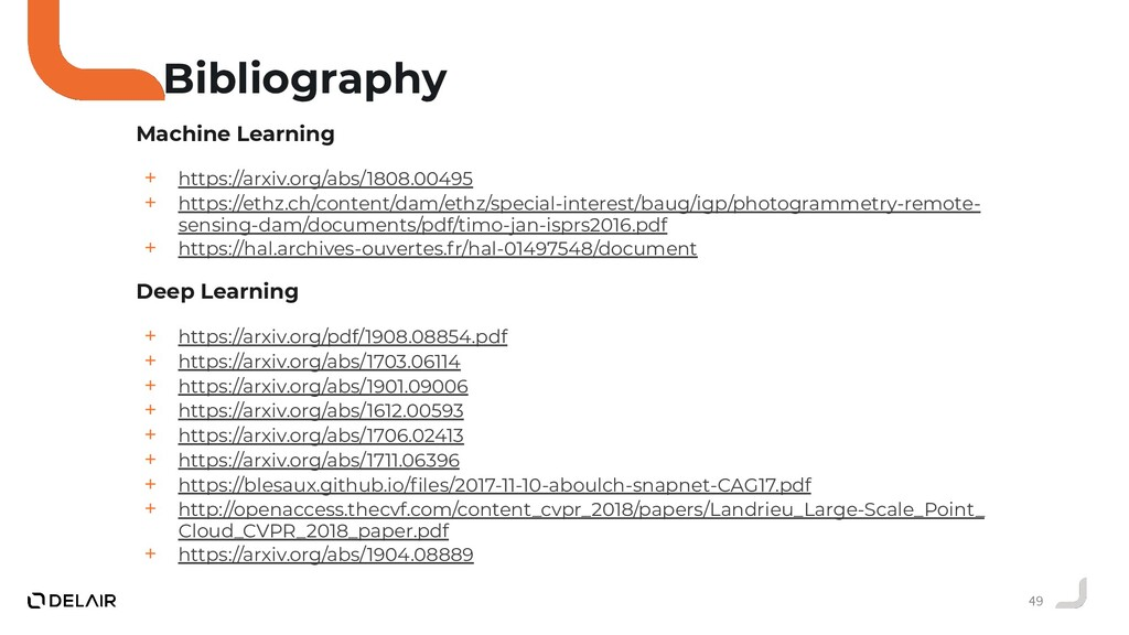 49 Bibliography Machine Learning + https://arxi...