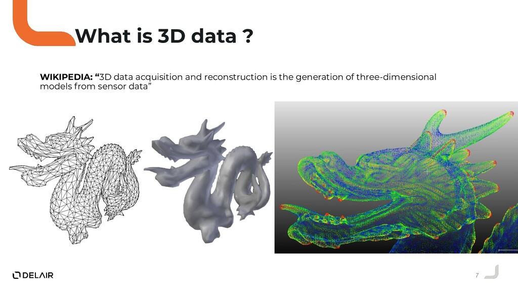 "7 What is 3D data ? WIKIPEDIA: ""3D data acquisi..."