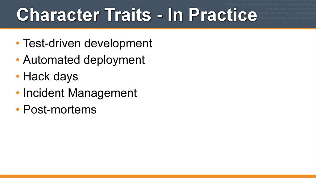 Character Traits - In Practice • Test-driven de...