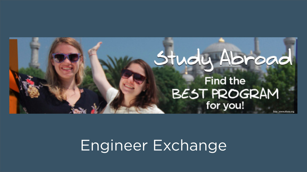 Engineer Exchange http://www.afsusa.org/