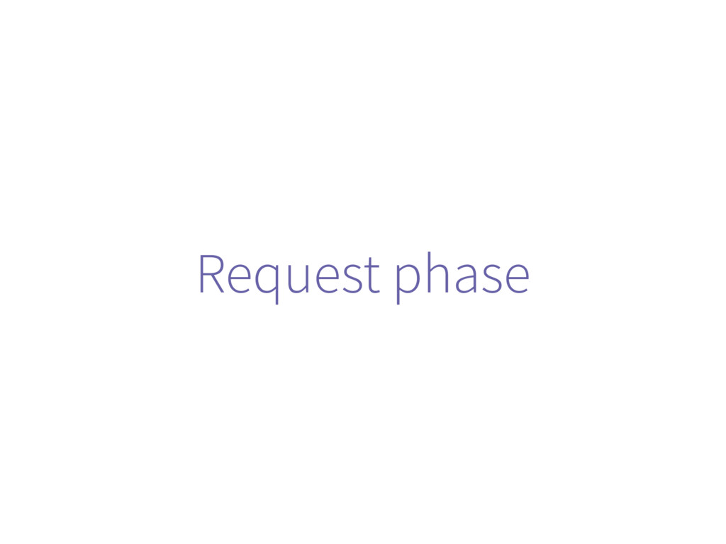 Request phase
