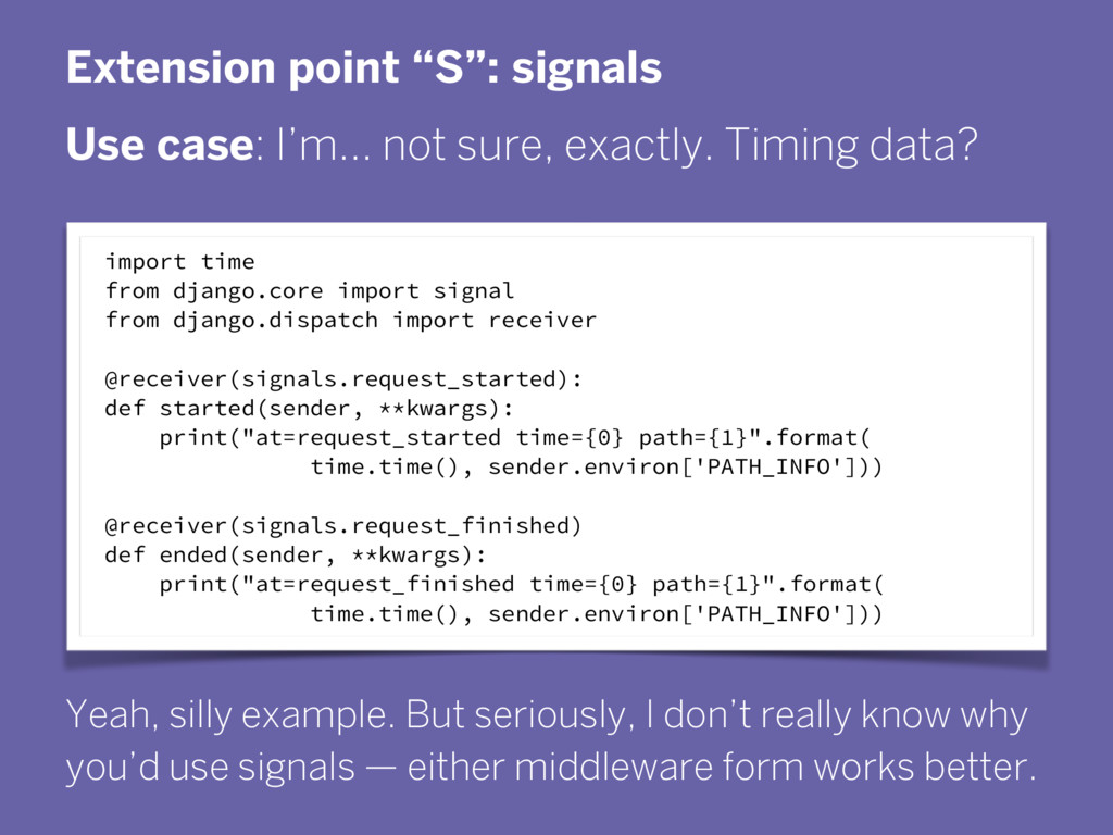 """Extension point """"S"""": signals Use case: I'm… not..."""