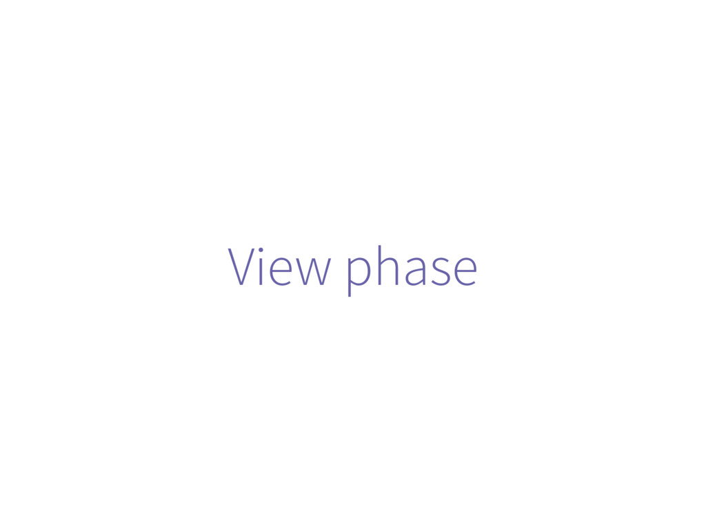 View phase