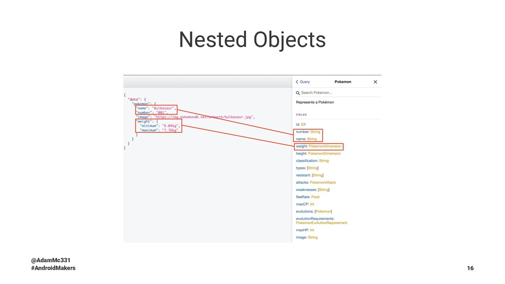Nested Objects @AdamMc331 #AndroidMakers 16