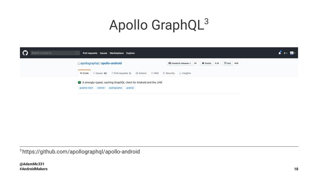 Apollo GraphQL3 3 https://github.com/apollograp...
