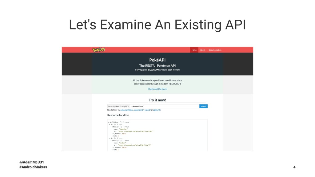 Let's Examine An Existing API @AdamMc331 #Andro...