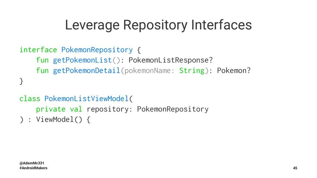 Leverage Repository Interfaces interface Pokemo...