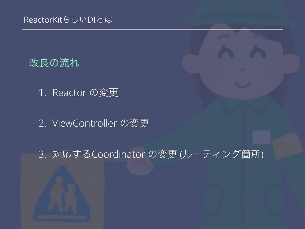 ReactorKitΒ͍͠DIͱ վྑͷྲྀΕ 1. Reactor ͷมߋ 2. ViewC...