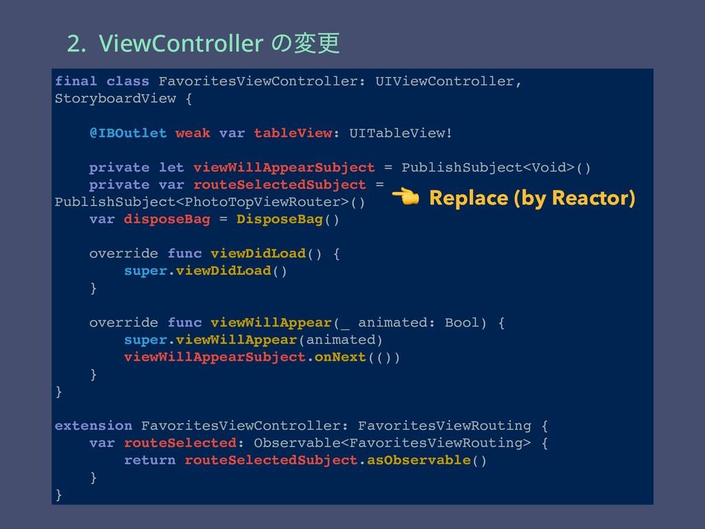 2. ViewController ͷมߋ  Add  Add final class Fav...