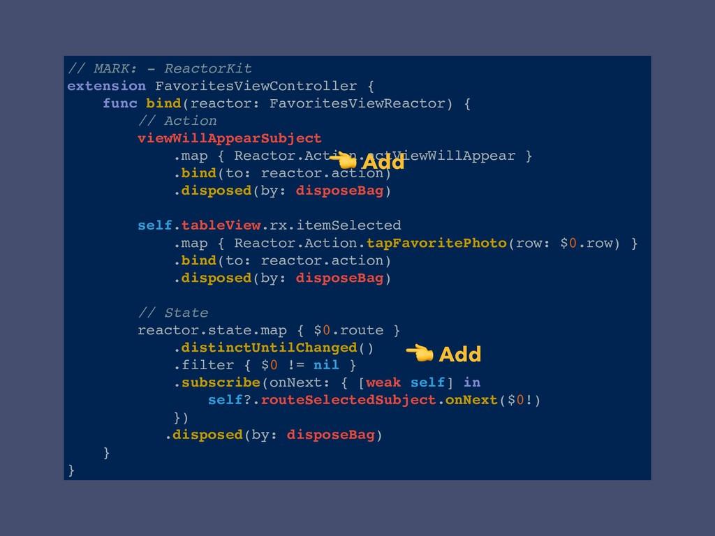 // MARK: - ReactorKit extension FavoritesViewCo...