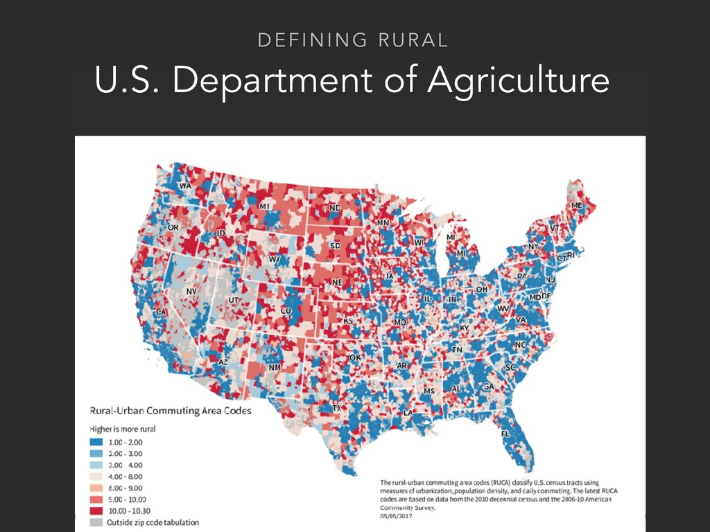 DEFINING RURAL U.S. Department of Agriculture