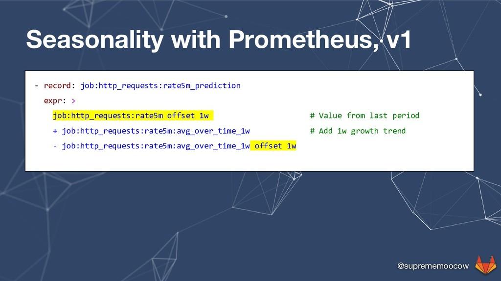 @suprememoocow Seasonality with Prometheus, v1 ...
