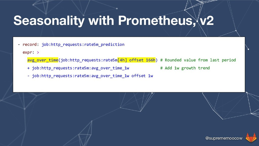 @suprememoocow Seasonality with Prometheus, v2 ...
