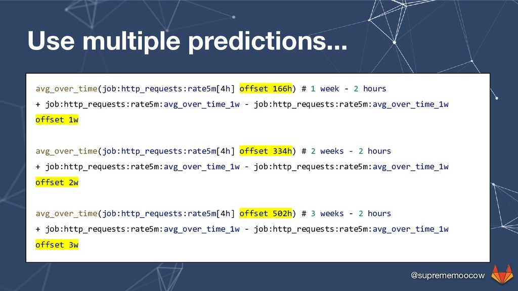 @suprememoocow Use multiple predictions... avg_...