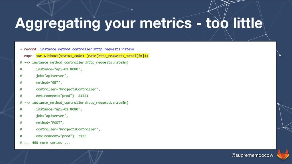 @suprememoocow Aggregating your metrics - too l...
